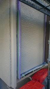 壁面下塗り